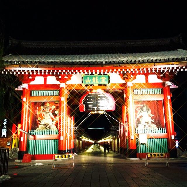 福祉車両でデート、旅行 東京・浅草