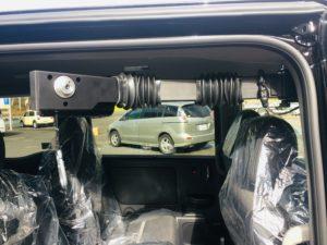 福祉車両改造事例 ホンダステップワゴン スパーダ 福祉車両改造 車いす収納装置 車いす収納クレーン 移乗サポートシート 移乗サポートプレート 移乗サポートボード 14