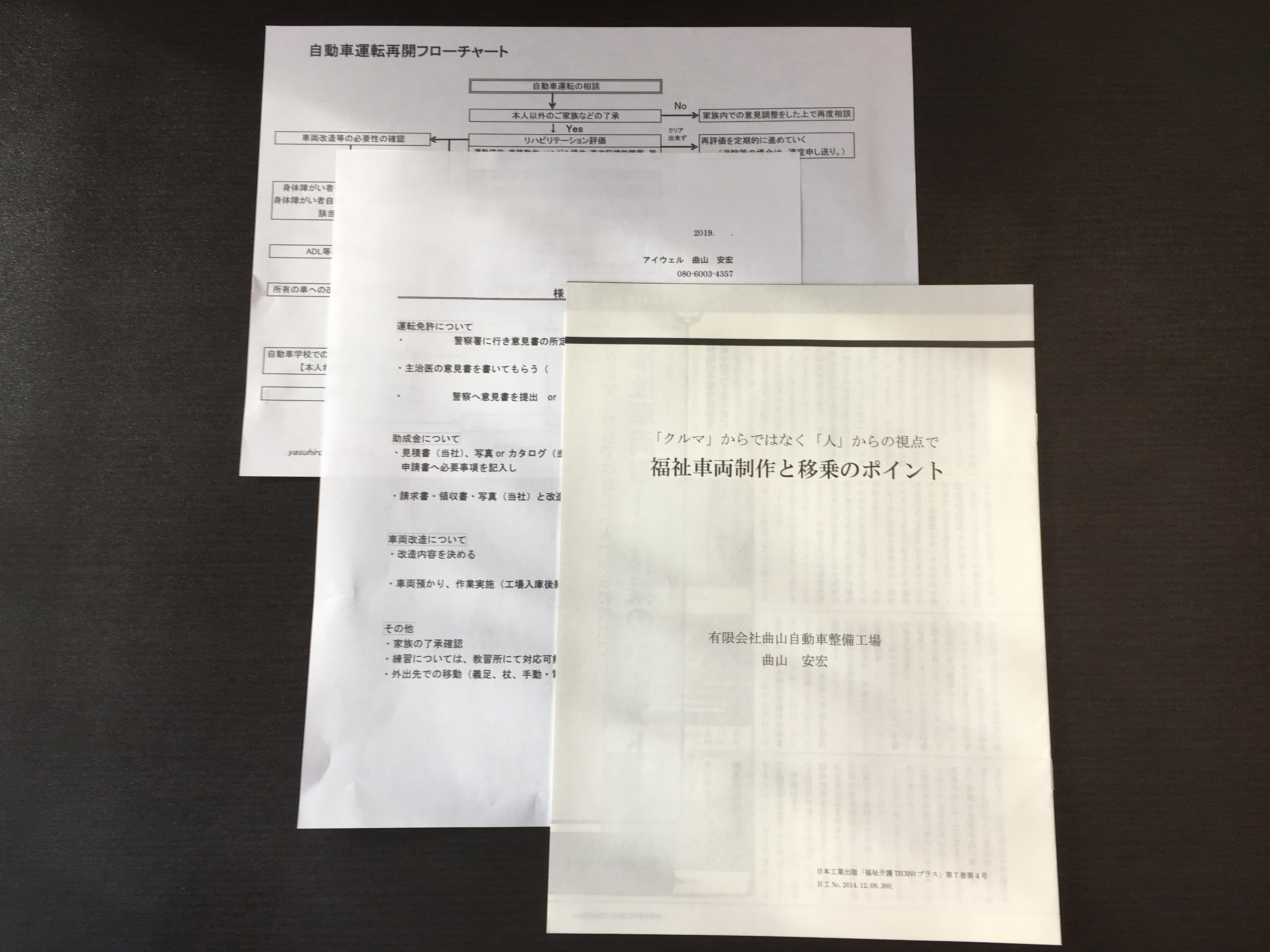 自動車運転再開フローチャート 曲山安宏 アイウェル (有)曲山自動車整備工場