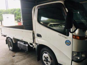 平ボディー トラック 全塗装 日野 デュトロ