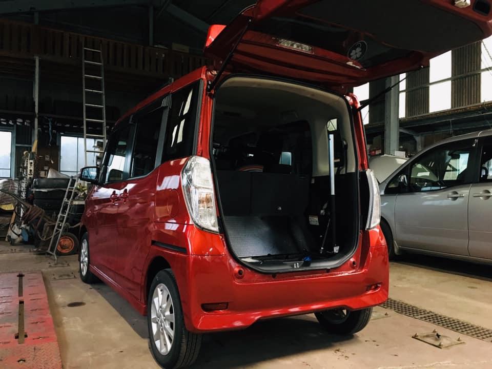福祉車両改造 日産 デイズルークス 車いす収納装置 福祉車両改造 簡易電動車いす 車いす積込み 車いす積み降ろし 20190820