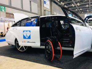 国際福祉機器展 HCR2019 ⑧ピラーリフト 車イス収納 ティップアッププレート 移乗サポート