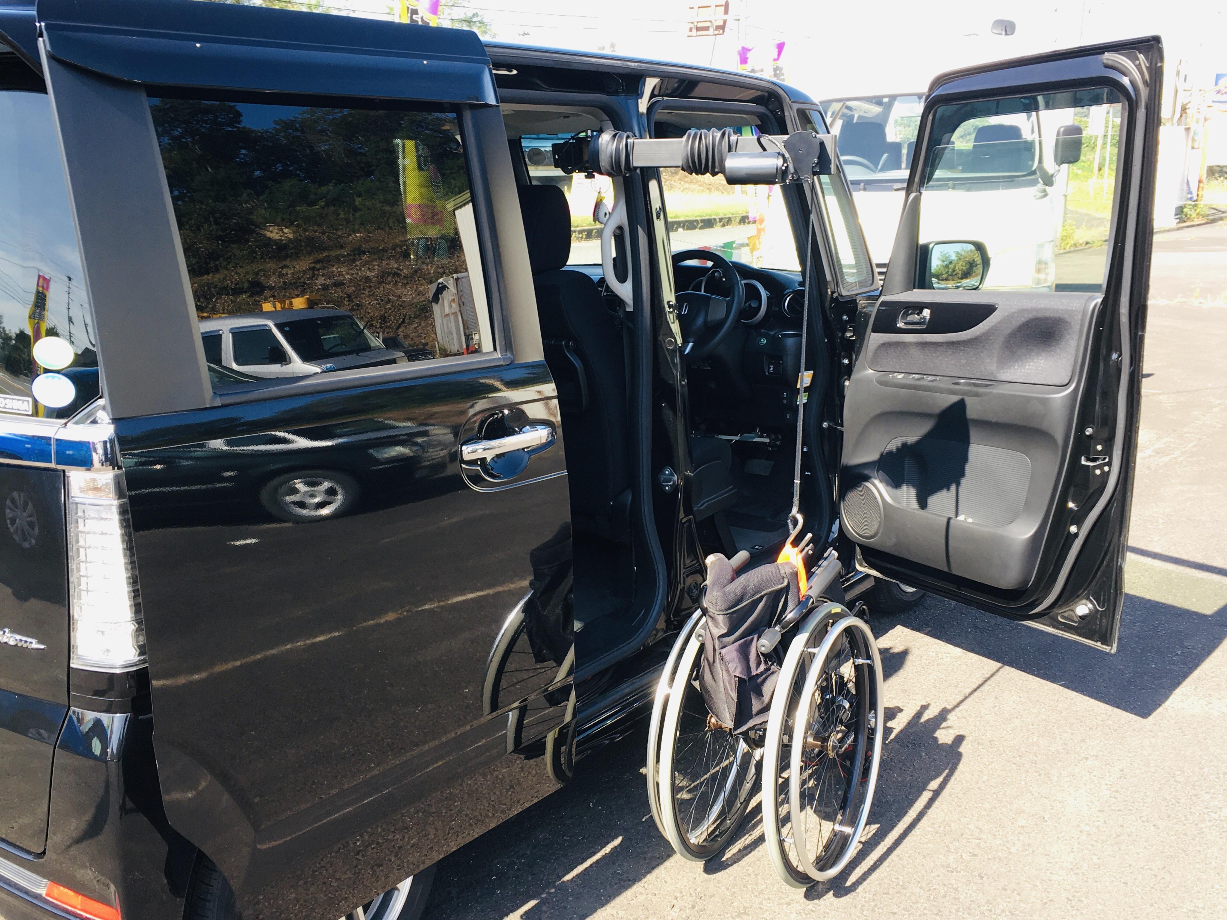 福祉車両改造 ホンダN-BOX 手動運転装置 福祉車両へ改造 201910 ⑬