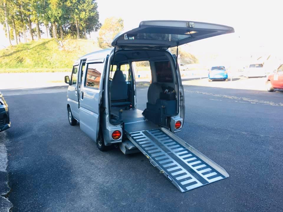 福祉車両レンタカー 軽自動車スローパー ミニキャブ ①