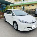 福祉車両改造 トヨタ ウィッシュ 左足アクセル 福祉車両への改造 ①
