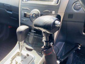 福祉車両改造 トヨタ フィールダー 手動運転装置 福祉車両への改造 ⑧