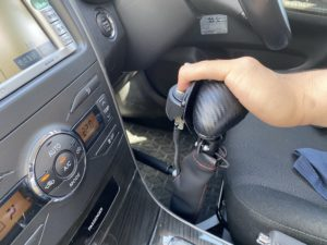 福祉車両改造 トヨタ フィールダー 手動運転装置 福祉車両への改造 ⑬