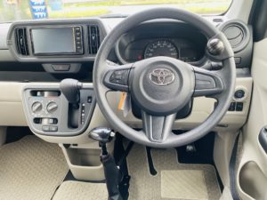 福祉車両改造 トヨタ パッソ 手動運転装置 福祉車両への改造 自動車運転支援 福島県 202106 ⑤