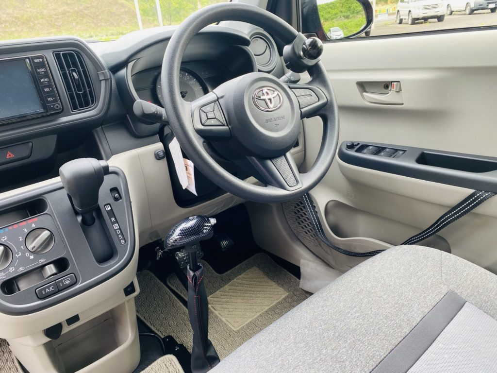 福祉車両改造 トヨタ パッソ 手動運転装置 福祉車両への改造 自動車運転支援 福島県 202106 ⑦