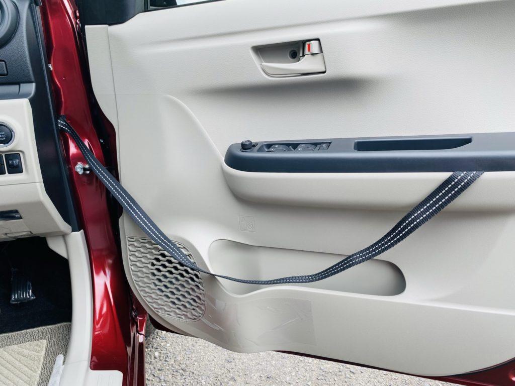 福祉車両改造 トヨタ パッソ 運転席ドア補助ストラップ 福祉車両への改造 自動車運転支援 福島県 202106 ⑪