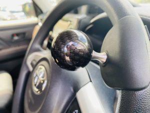 福祉車両改造 トヨタ ルーミー 手動運転装置 移乗補助シート 車いす収納装置 ④